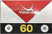 ヴィクタス ヤサカ(Yasaka) 卓球ボール ヤサカプラスペリオールボール ホワイト (60個入り)YaSaKa YSK-A53
