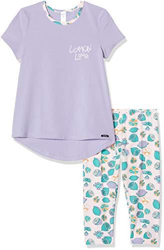 Skiny Mädchen Pyjama 3/4 lang Cosy Night Sleep Girls Schlafanzughose, Violett (Lilac 2844), (Herstellergröße:140)