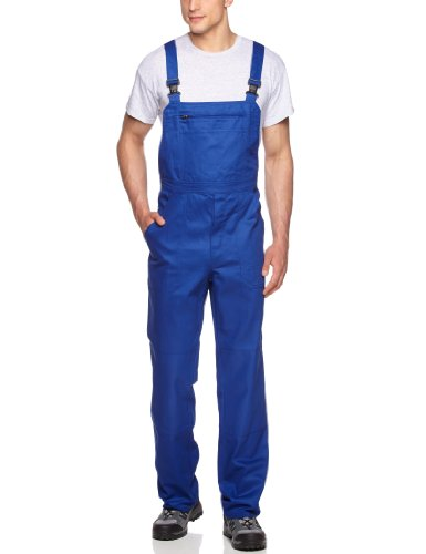 Qualitex Arbeits-Latzhose BW Gr. 56, Bleu - Kornblau