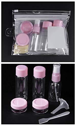 JEOSNDE 1 Juego de Grifo portátil Botellas rellenables Kit de plástico Crema Facial loción Maquillaje de contenedores de Viaje a casa sin Spray Botellas de Relleno (Color : I)