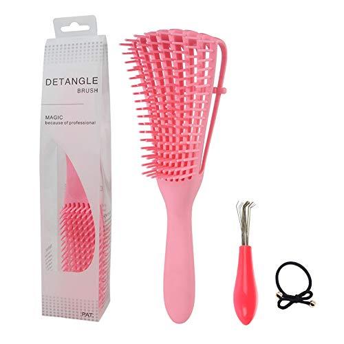 SwirlColor Brosse Demelante Cheveux | Rose Pratique Afro Naturel Brosse À Cheveux Peigne pour Ondulé Bouclés Longs Épais Cheveux Humides Secs, avec Br