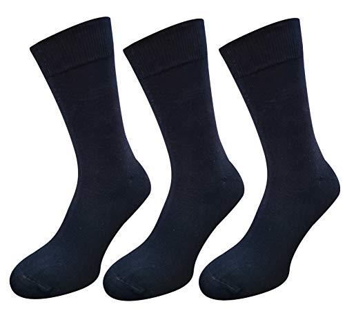 Cotton Club XXL Socken ohne Gummi schwarz 51-54 | 3Paar