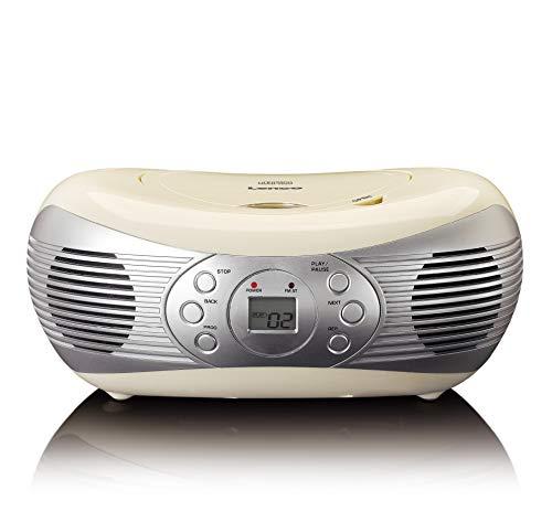 Lenco SCD-12 cream Stereo Fm Radio con Lettore Cd