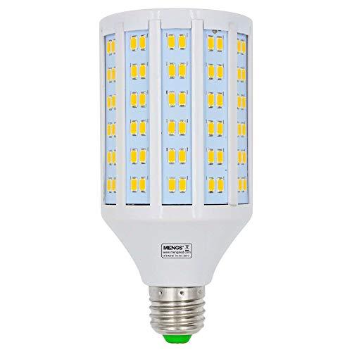MENGS Bombillas LED E27 25W Lámpara LED (Equivalente 200W Halógena) blanco cálido 3000K lampara LED, AC 85-265V, 3250lm, Luz LED