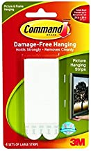 Command Large Picture-Hanging Strips, White, 16-Pairs
