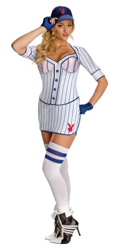 Disfraz de jugadora de béisbol Playboy para mujer - M
