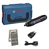 Bosch Go - Atornillador a Batería, 3.6V, 25 Puntas, L-BOXX Mini