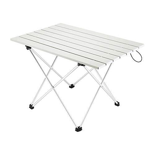 JINTN Tragbar Campingtisch Klapptisch Gartentisch Arbeitstisch Balkontisch aus Aluminium Zusammenklappbar Tischplatte für Picknick, Camping, Strand, Kochen, leicht zu reinigen