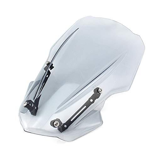 Parabrisas de Motocicleta Accesorios para Motocicletas Parabrisas De Parabrisas Aire De Parabrisas Fit For Kawasaki Z900 2017 2018 2019 Parabrisas Universal Parabrisas de Motocicleta (Color : Clear)
