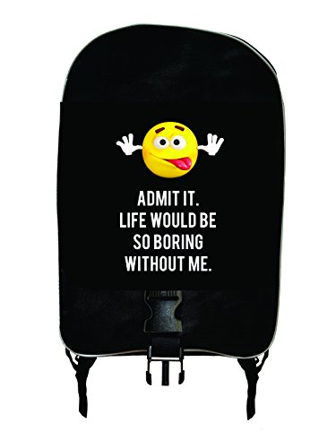 Admit It. - Funny Novelty Quote Expression - Yellow Emoticon - Black School Backpack