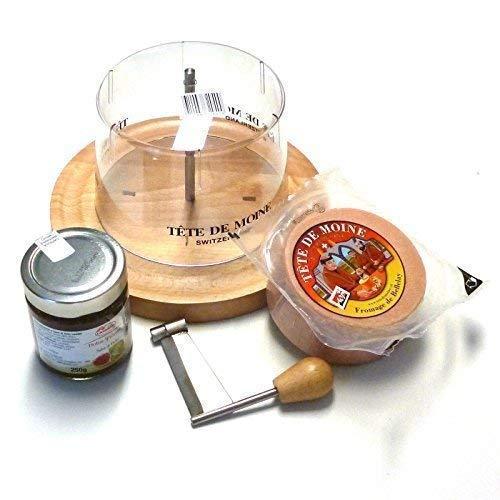 SET COMPLETO Tete de Moine PIALLA formaggio - Set 1/2 Laib Classic+Feigensenf