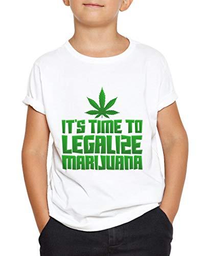 Okdok Camiseta para niños con texto en inglés 'It's Time to Legalise Amsterdam'
