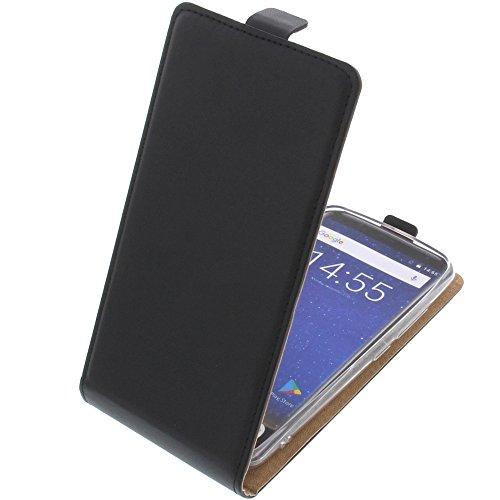 foto-kontor Tasche für Oukitel K5000 Smartphone Flipstyle Schutz Hülle schwarz