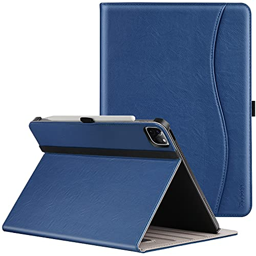ZtotopCases Premium PU Leather Case for iPad Pro 12.9 Case 2021 5th Generation, Multiple Viewing Angles with Auto Sleep/Wake, Support iPad Pencil Charging for iPad Pro 12.9 Inch 2021 - Blue