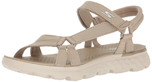 Skechers Performance Women's On The Go 400 Radiance Flip Flop,NATURAL,9 M US