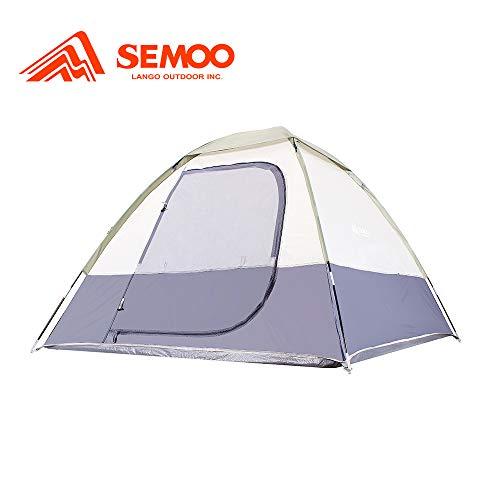 Semoo Tienda de Campaña Compacta para 2 Personas Puerta con Mosquitera y Capa Rainfly Ideal para Camping Mochilero Trekking, Fácil Instalación