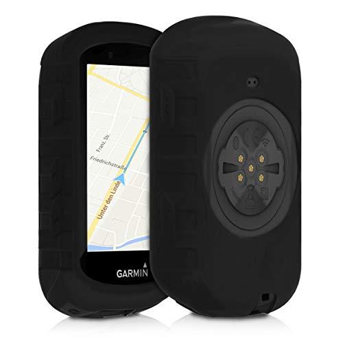kwmobile Housse GPS Vélo - Accessoire Compatible avec Garmin Edge 530 - Protection Boîtier Navigateur - Étui en Silicone Noir