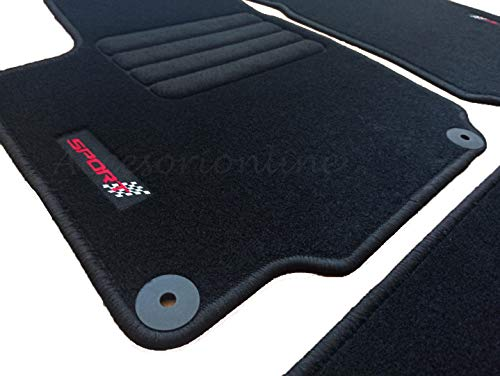 Accesorionline Alfombras para Seat Leon I 1999-2005 Alfombrillas con Anclajes y Medidas Originales 1M FR Sport MK1