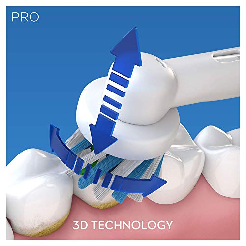 Oral-B Pro 600 CrossAction Electric Rechargeable Toothbrush Powered by Braun