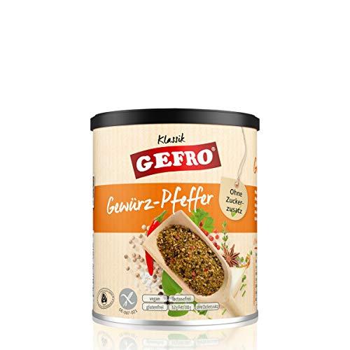 GEFRO Gewürz-Pfeffer zum Würzen & Verfeinern von Rohkost, Salat, Fleisch & Fisch (180g)