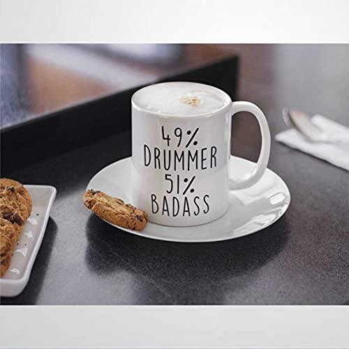 N\A Schlagzeuger präsentiert Kaffeetasse Schlagzeuger Keramiktasse Schlagzeuger präsentiert für Männer Becher Teetasse Schlagzeuger präsentiert Idee Schlagzeuger Geschenke für Frauen