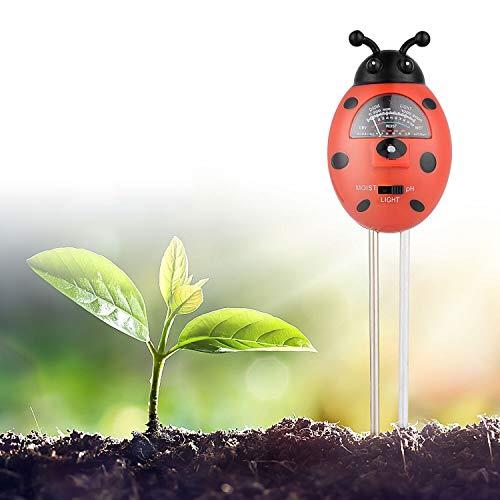 Herefun Medidor de Humedad del Suelo, 3en1 Probador de Suelo, Monitor de Agua del Suelo,la Hhumedad,la luz y la Prueba de PH para Plantas de Horticultura Césped Interior Exterior(No Necesita Batería)