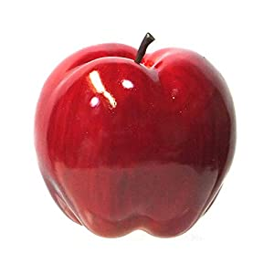 Viabella 4-Pack Artificial Apple Red Color Extra-Large 4.75-inch – Round Apples Fruit – Four Pieces