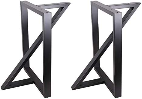 ECLV 2 x 28 Dining Table Legs Z Shaped Steel Table Legs Country Style Table Legs Office Table product image