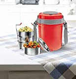 Material type: Stainless Steel; No. of containers: 4; Capacity of containers: 360 ml Each; Contents include: Electron Tiffin Box (4 Containers); Colour: Red Best usage: Office/College/Picnic; Microwave safe: No; Leak proof: Yes; Insulated: Yes; Keeps...