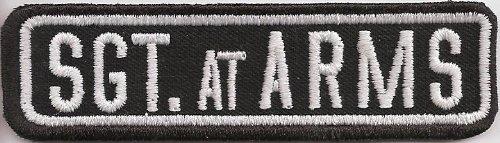 BIKER Sgt AT ARMS Rangabzeichen Namensschild RankPatch Aufnäher Patch