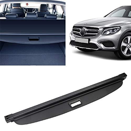 Autoxrun Black Interior Retractable Rear Trunk Cargo Cover Luggage Security Shade Replacement for2016-2018 Mercedes-Benz GLC-Class