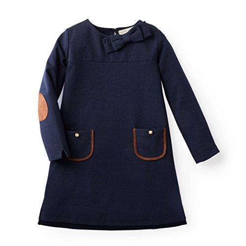 Hope & Henry Girls Navy Dress