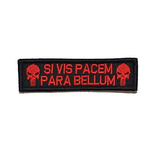 aquiver Multicam bordado parche táctico para Airsoft y Paintball hierro/para coser en insignia, SI VIS PACEM Red, SI VIS PACEM Red