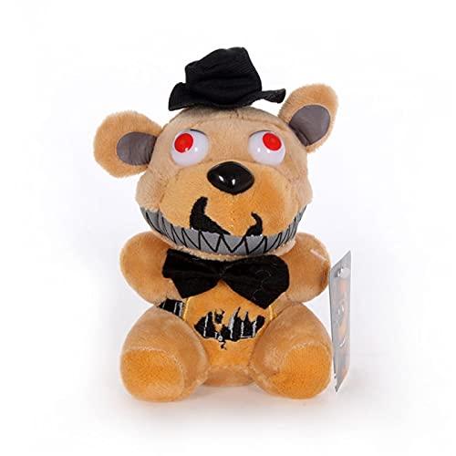 HHtoy Freddy Peluches Marioneta 15 cm / 25 cm Cinco Noches en el Oso de Freddy Almohada de Juguete Suave Pesadilla Fredbear Golden Fazbear Muñeco de Peluche Cumpleaños niños Niñ
