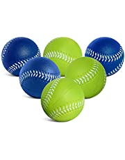 Toddler & Little Kids Oversized Foam Baseballs | Perfect for use as Safe & Soft Kids Baseballs or T Balls for Toddlers | 6 Pack of Foam Balls in High Visibility Colors