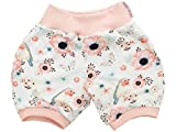 Kleine Könige Kurze Pumphose Baby Mädchen Shorts · Modell Birds weiß Altrosa · Ökotex 100 Zertifiziert · Größe 98/104