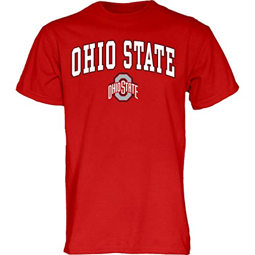 NCAA Ohio State Buckeyes Mens T Shirt Team Color Arching Over, Ohio State Buckeyes Red, Large