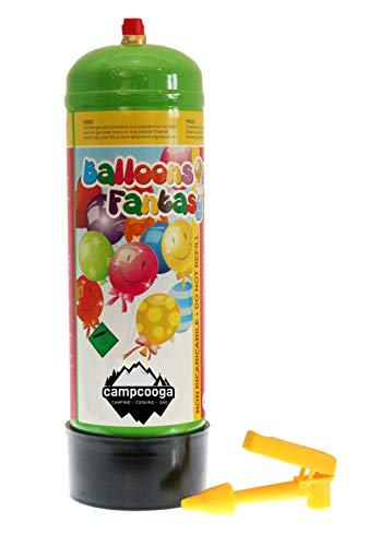 campcooga Ballongas 1 Liter Helium Luftballongas für Geburtstag Party Feier Luftballongas Ballons fliegen Lassen