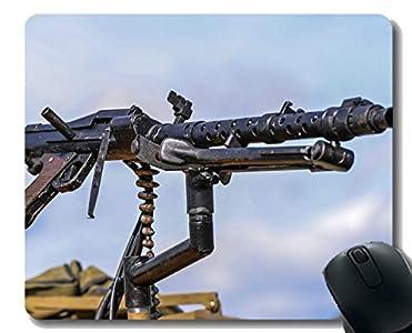 Yanteng Estera antirresbaladiza del cojín de ratón, Ametralladora de la Bala MG-34 Mousepad