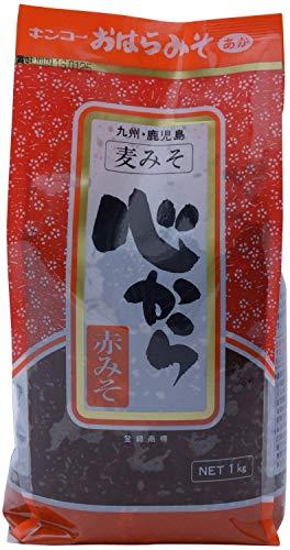 [キンコー醤油] 心から赤みそ (熟成発酵 麦みそ) 1�s×2個 国内産大豆を100% 使用