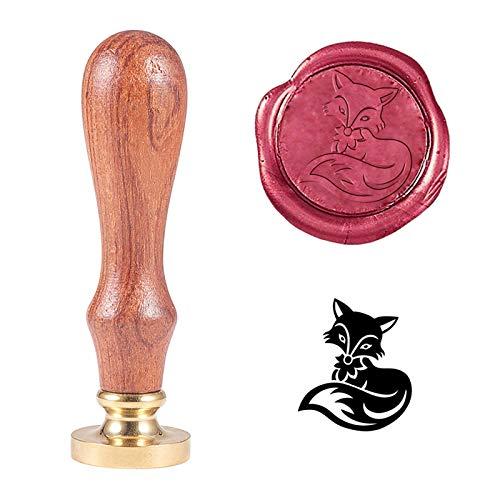 PandaHall Sello de cera, diseño de zorro animal, estilo retro, para adornar sobres, invitaciones, paquetes de vino, embalaje de regalo