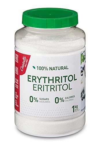 Natürliches Erythrit - Kristallzucker - Zuckerersatz - Keto und Paleo - 0 Glykämischer Index - Kalorienfreier - 0 Kohlenhydrate - Hergestellt aus Mais 100{05ac10181dd9025e5fd03ac10c4b092a4723e5827c0ec76e544620c474a4ab7b} gentechnikfrei - Castello since 1907 - 1 kg