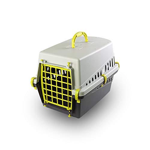 PATAM Trasportino per Animali Portata Max 8 kg – Trasportino Cane e Gatto in Plastica 33 x 50 x 32 cm Miao Giallo