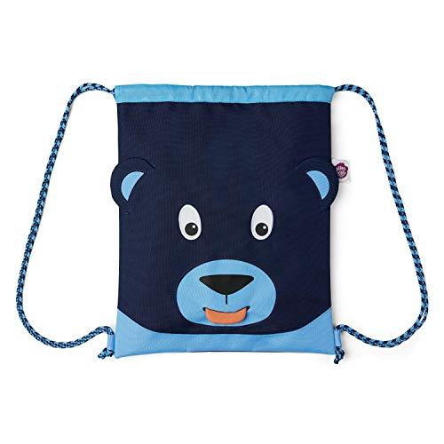 Affenzahn Turnbeutel - für Mädchen und Jungen Kinder 1-5 Jahre - Bär - Blau