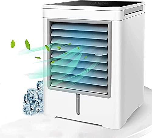 Personal Air Cooler, Portable Evaporative Conditioner with 3 Wind Speeds Touch Screen Small Desktop Cooling Fan, Mini Air Conditioner Fan for Home, Bedroom Room, Office, Dorm, Car, Camping Tent