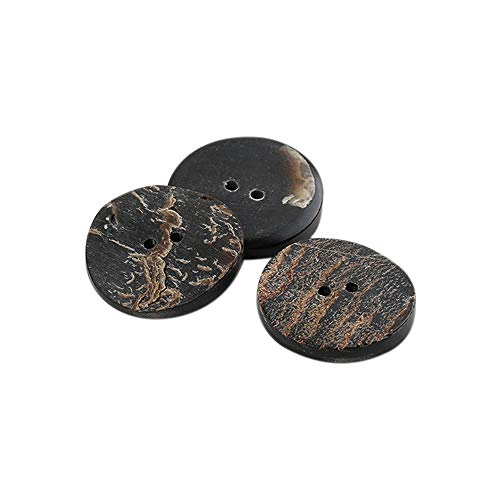 Anjing 12 STKS Real Hoorn Knoppen Set voor Blazers Suits Jassen Natuurlijke Bruin Buffalo Hoorn 15mm
