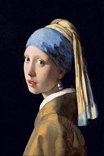 Póster De Johannes Vermeer - Chica Con Un Pendiente De Perla, Jan Vermeer Van Delft 1665, Retratos De Arte Clásico, Cuadros De Pintura En Lienzo, Decoración de la Pared, Sala De Estar, Sin Marco