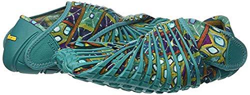 Las Zapatillas De Deporte Envuelto Y De Vibram Furoshiki Mujeres De Los Hombres, Zapatos De Tela Plegable Portátil,Verde,XXL