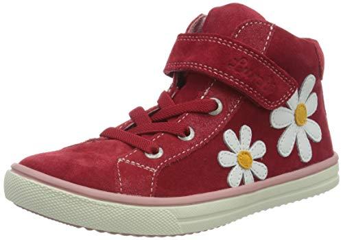 Lurchi Mädchen SIBBI Hohe Sneaker, Rot (Red 33), 28 EU