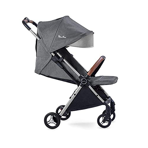 Silver Cross Jet Travel Stroller, Lightweight and Cabin Approved Fully Reclining Baby To Toddler Pushchair - Special Edition Mist